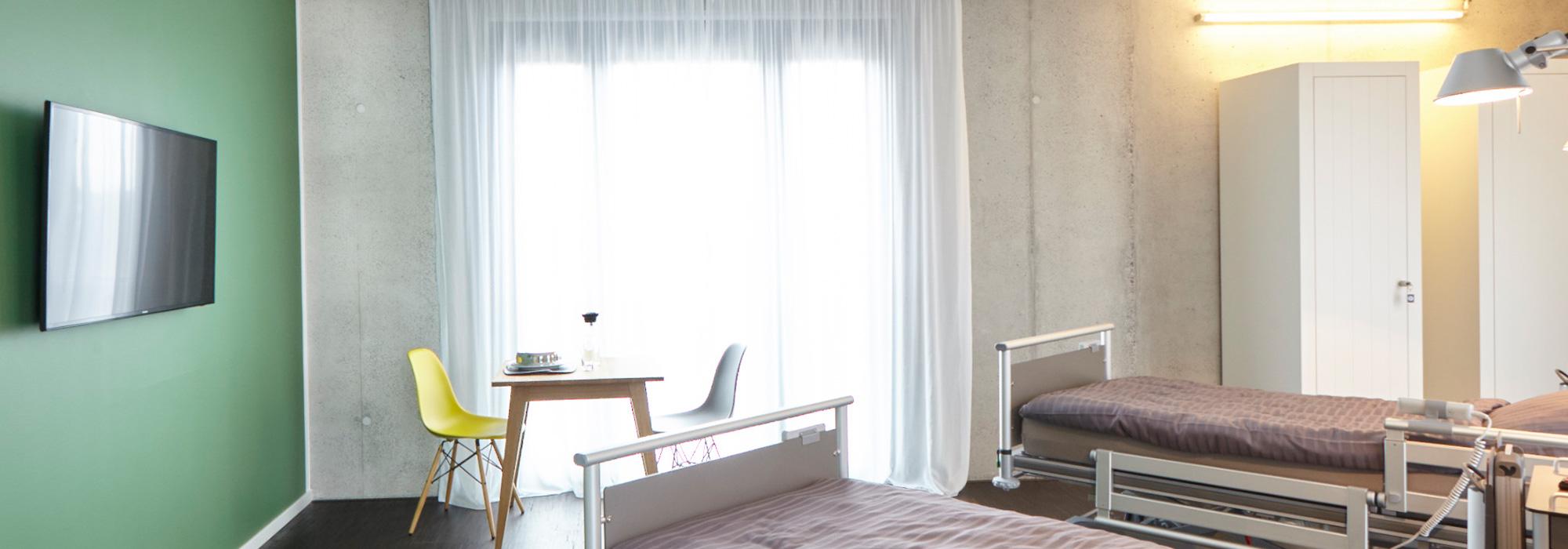 Zimmer mit <br />Hotelcharakter.